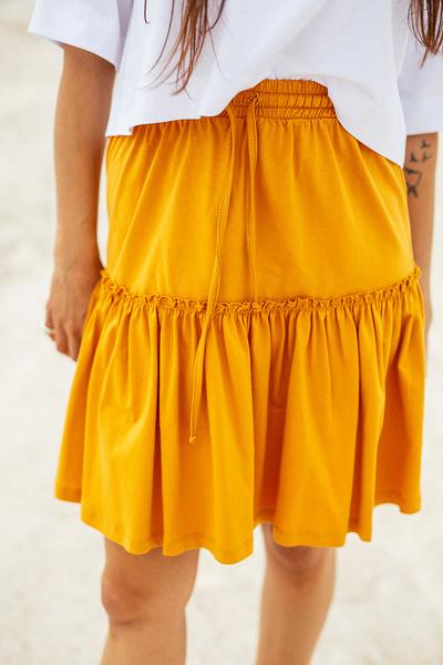 Μίνι φούστα με βολάν