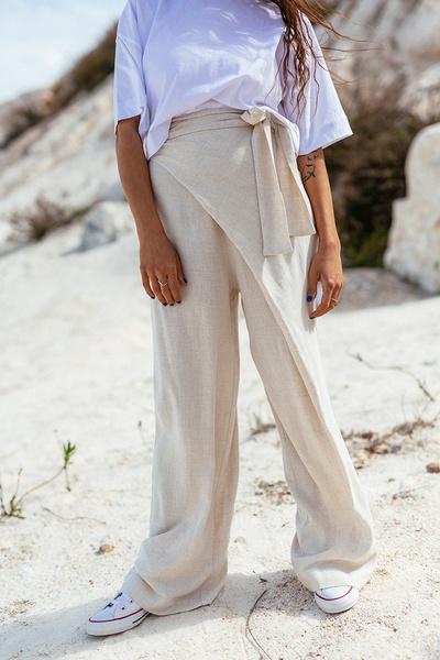 Παντελόνι με όψη λινού