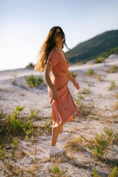 Φόρεμα κρουαζέ εμπριμέ