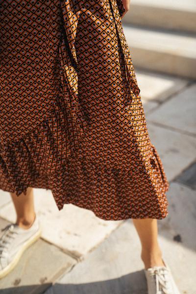 Κρουαζέ φούστα με βολάν