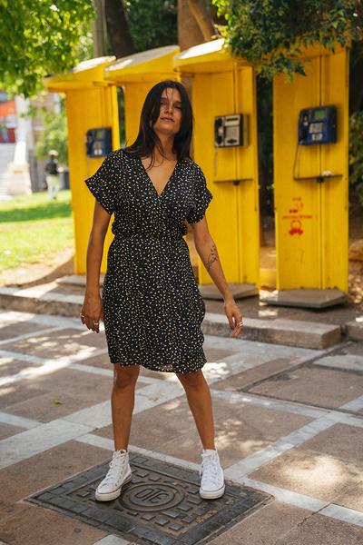 Κρουαζέ μίνι φόρεμα
