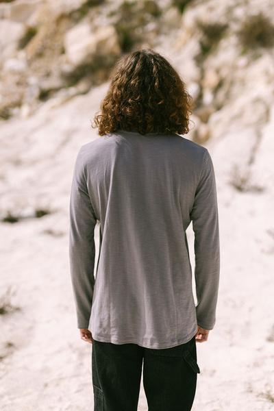 Μακρυμάνικο βαμβακερό μπλουζάκι