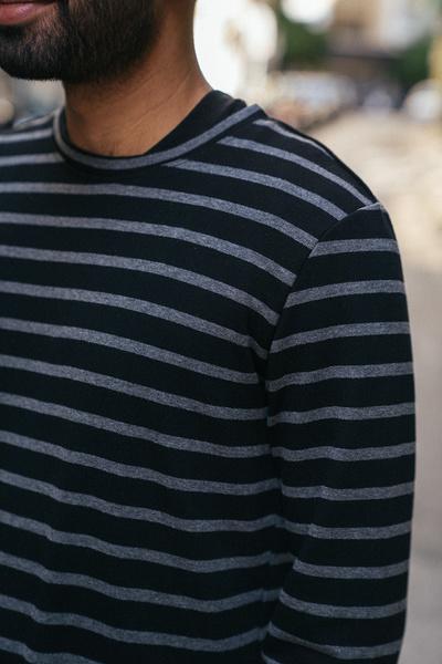 Ριγέ μακρυμάνικη μπλούζα